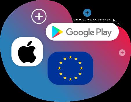 google play - apple -eu-1